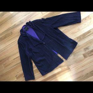 Ming Wang Sapphire Purple & Black Jacket
